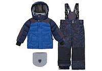 Зимний костюм для мальчика 2-6 лет, р. 92-122 (куртка, полукомбинезон, манишка) ТМ Deux par Deux N 816-487