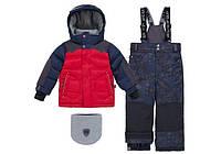 Зимний костюм для мальчика 2-6 лет, р. 92-122 (куртка, полукомбинезон, манишка) ТМ Deux par Deux N 816-748