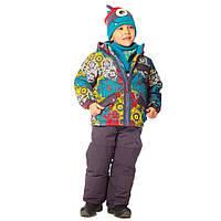 Зимний костюм для мальчика 2-7 лет  (куртка, полукомбинезон, манишка) ТМ Deux par Deux L 813-964