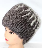 Натуральная женская шапка из кролика