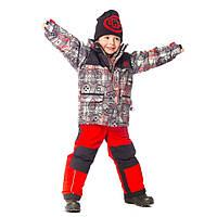 Зимний костюм для мальчика 3-4 лет  (куртка, полукомбинезон, манишка) ТМ Deux par Deux N 815-750