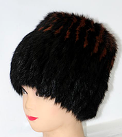 Зимняя женская шапка из меха кролика