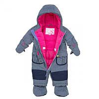 Зимний термокомбинезон для девочки 6-30 месяцев (комбинезон, шарфик, манишка) ТМ Deux par Deux  D 705-00