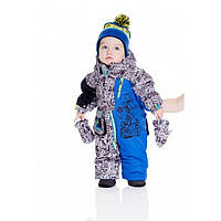 Зимний термокомбинезон для мальчика 1-2,5 года (комбинезон, шарфик, манишка) ТМ Deux par Deux Q 718-487
