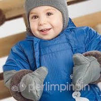 Зимний термокомбинезон для мальчика 6-24 мес., р. 68-92 (комбинезон, пинетки, варежки, манишка) Perlim Pinpin VH232D