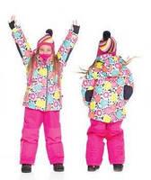 Зимний термокостюм для девочки 2-6 лет (куртка, полукомбинезон, манишка) ТМ Deux par Deux F 804-647