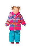 Зимний термокостюм для девочки 2-4 лет р. 92-110 (куртка, полукомбинезон, манишка) ТМ Deux par Deux D 803-447