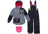 Зимний термокостюм для девочки 6 лет р. 116-122 (куртка, полукомбинезон, манишка) ТМ Deux par Deux H 808-17-00