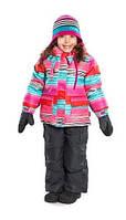 Зимний термокостюм для девочки от 1,5 до 8 лет (куртка и полукомбинезон), р. 86-128 ТМ Nanö 266 M F14