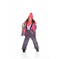 Зимний термокостюм для девочки 8-14 лет р. 122-152 (куртка, полукомбинезон, манишка) ТМ Deux par Deux E 806-964