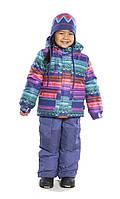 Зимний термокостюм для девочки от 2 до 8 лет (куртка и полукомбинезон), размеры 92-128 ТМ Nanö 276 M F14