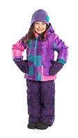 Зимний термокостюм для девочки от 5 до 8 лет (куртка и полукомбинезон), размеры 110-128 ТМ Nanö 284 M F14