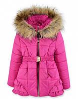 Детская зимняя куртка на девочку Сирень, р.98-110