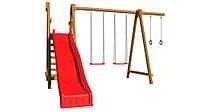 Игровая детская площадка из дерева SportBaby-3 для улицы ТМ SportBaby