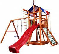 Детский игровой комплекс для улицы Babyland-3 (горка, песочница, гладиаторская стенка, скалолазка, качели) ТМ SportBaby