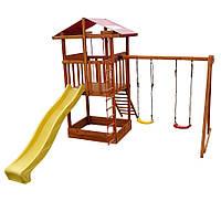 Игровой деревянный детский комплекс для улицы Babyland-2 ТМ SportBaby (игровая детская площадка)