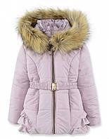 Детская зимняя куртка на девочку Пудра, р.98,104