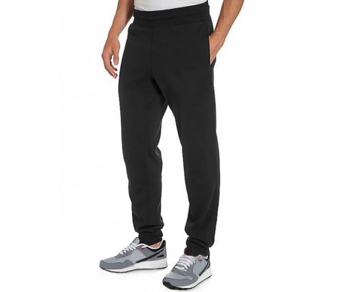 82940103 ЗИМНИЕ спортивные штаны мужские утепленные трикотажные черные на резинке  внизу (манжет) Украина