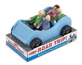 """Игровой набор """"Дорожная машинка с куклами"""" деревянный ТМ Melissa & Doug MD2463"""