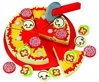 Игровой набор Пицца нарезная. Деревянная игрушка ТМ Bino, 83412