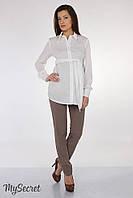 Классические летние брюки для беременных Lavera light  р. 44-50 ТМ Юла Мама Кофе TR-25.072