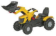 Педальный трактор с ковшом Farmtrac JCB 8250 Rolly toys желтый