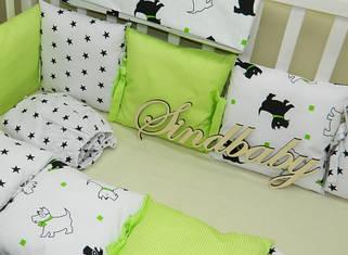 Бортики и комплекты постели в кроватку TM Sindbaby