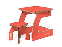 Комплект детской мебели Карапуз (стол+стул) для детей до 6 лет ТМ Мими  Коралл