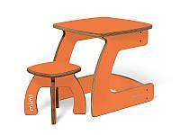 Комплект детской мебели Карапуз (стол+стул) для детей до 6 лет ТМ Мими Абрикос