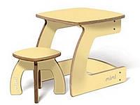 Комплект детской мебели Карапуз (стол+стул) для детей до 6 лет ТМ Мими Крем