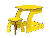 Комплект детской мебели Карапуз (стол+стул) для детей до 6 лет ТМ Мими Лимон