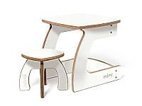 Комплект детской мебели Карапуз (стол+стул) для детей до 6 лет ТМ Мими Молоко