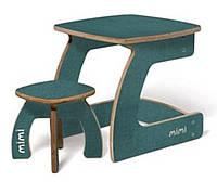 Комплект детской мебели Карапуз (стол+стул) для детей до 6 лет ТМ Мими Зеленый текстиль