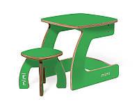 Комплект детской мебели Карапуз (стол+стул) для детей до 6 лет ТМ Мими Огурец