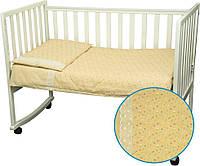 Комплект постельного белья в детскую кроватку Карапуз (пододеяльник, наволочка, простынь, 100% хлопок) ТМ Руно