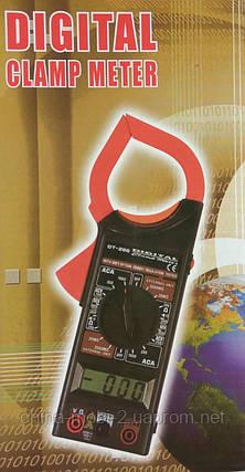 Тестер-клещи DT-266C, мультиметр цифровой, фото 2