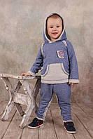Костюм спортивный для мальчика 1,5-5 лет, р. 86-104 ТМ Модный карапуз (синий джинс) 03-00563