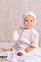 Крестильная рубаха для мальчика, лен. ТМ Модный карапуз 03-00584