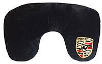 Автомобильная подушка подголовник дорожная Подковка с логотипом