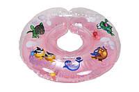 Круг для купания  младенцев на шею Дельфин EuroStandard  Розовый