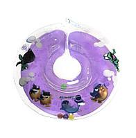Круг для купания  младенцев на шею Дельфин EuroStandard  Сиреневый