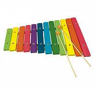 Ксилофон 12 тонов. Деревянная музыкальная игрушка ТМ Bino, 86554