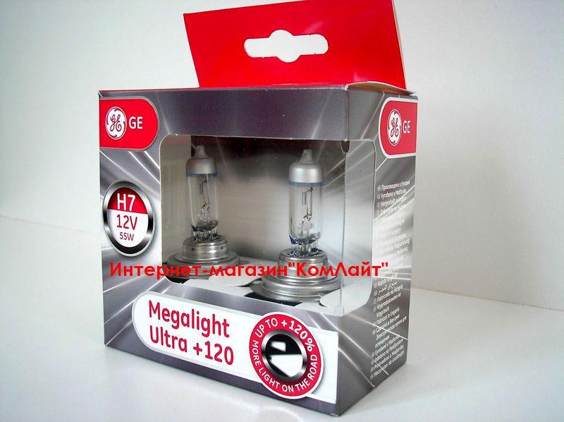Автолампы General Electric Megalight Ultra Н7 +120% -2шт(Венгрия)