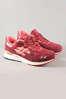 Кроссовки Asics Gel Lyte III бардовые. Обувь спортивная. Спортивная обувь. Обувь для спорта.
