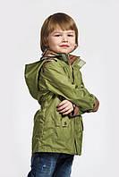 Куртка - парка демисезонная для мальчика 4-8 лет, р. 110-128 (ветровка) ТМ Модный карапуз (03-00441)