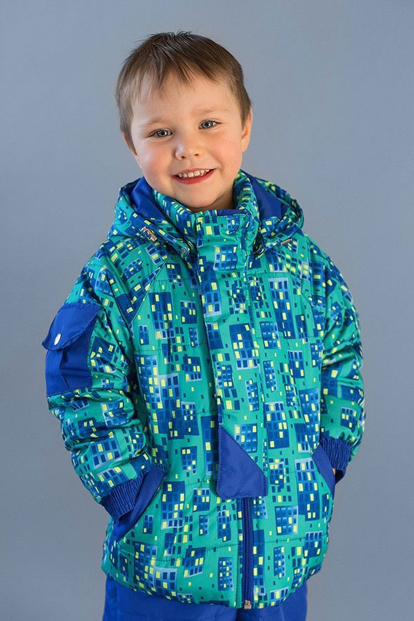 """Куртка демісезонна """"City"""" для хлопчика 1,5-4 років, р. 86-110 ТМ Модный карапуз 03-00639-0"""