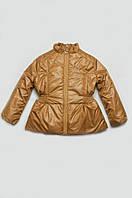 Куртка демисезонная (золотистый) для девочки 5-8 лет, р. 110-128 ТМ Модный карапуз 03-00458-1