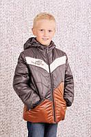 Куртка демисезонная для мальчика 4-8 лет, р. 110-128 Модный карапуз Коричневый 03-00456-1