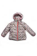 Куртка-жилет демисезонная (Яблочки) для девочки 1,5-4 лет, р. 86-104 ТМ Модный карапуз 03-00560-0