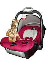 Ласковый жираф для путешествий - убаюкивающая мягкая музыкальная игрушка в коляску, автокресло (Cloud B)